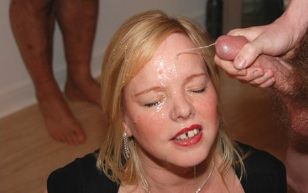 Busty Dawn: spermaholic housewife is the target for all the spunk eruptions!